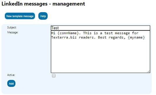 LinkedIn Messages extension