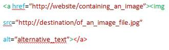Image code with an alt attribute